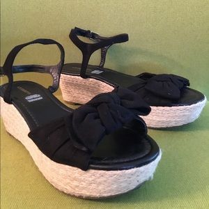 Liz Claiborne Espadrille Wedge Sandals 9.5M